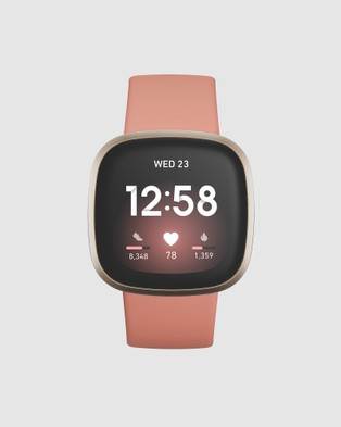 Fitbit Fitbit Versa 3 Pink Clay Gold - Fitness Trackers (Pink)