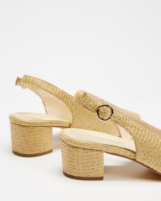 Atmos&Here Esme Slingback Heels - Mid-low heels (Natural Raffia)