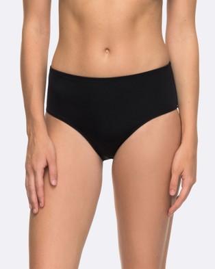 Roxy – Womens Roxy Essentials Mid Waist Separate Bikini Pant – Swimwear (Anthracite)