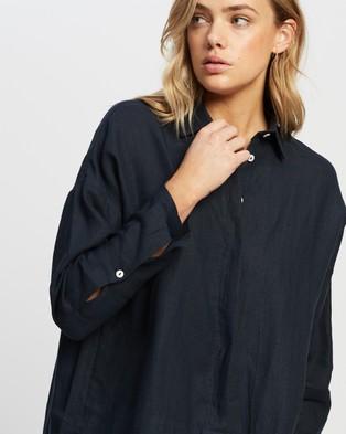 Andrea & Joen Raven Classic Long Sleeve Shirt - Tops (Navy)