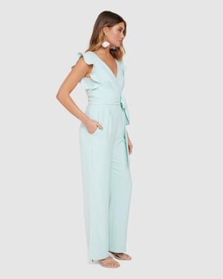 Forever New Catherine Wrap Jumpsuit - Bridesmaid Dresses (Mint)