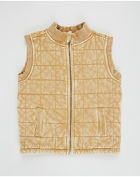 Cotton On Kids - Quilted Bomber Vest - Kids-Teens