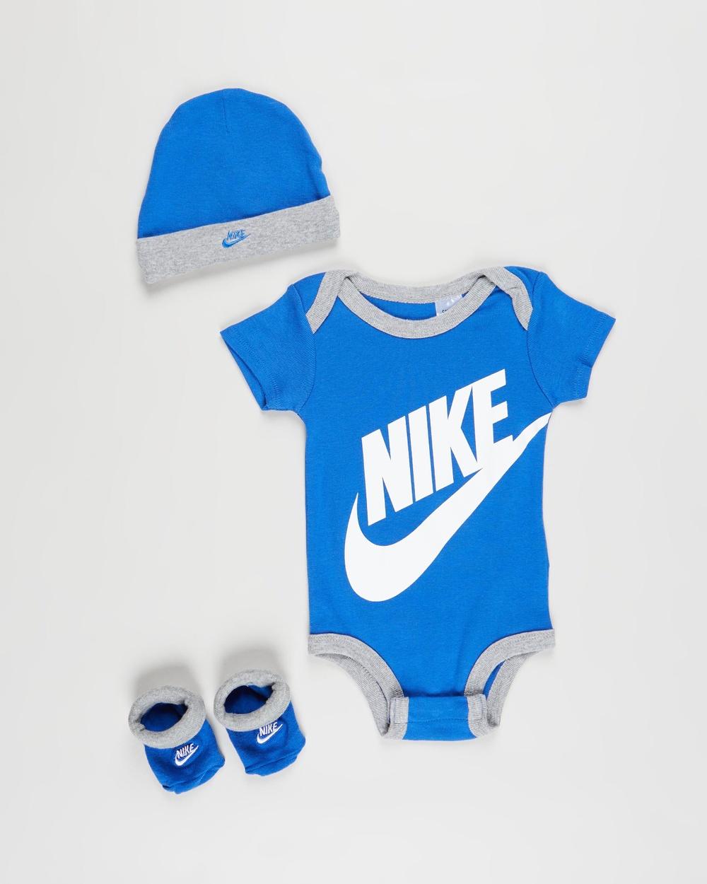 Nike Futura Logo Boxed Set Babies Headwear Blue