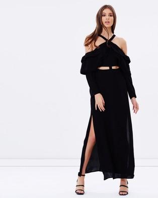 Isla – Hypnotic Maxi Dress – Dresses (Black)