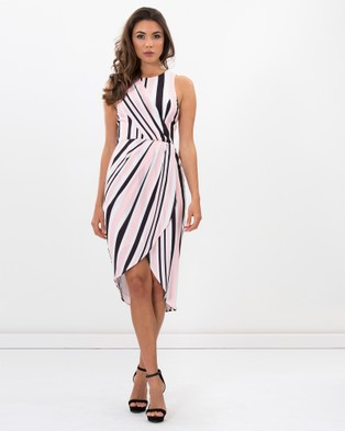 Honey and Beau – Lulu Tuck Dress Stripe Print