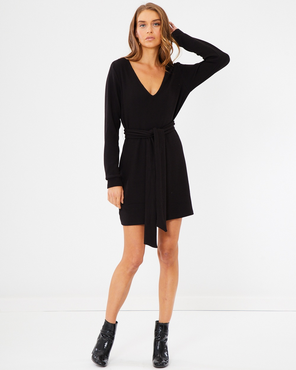 Tussah Meaghan Tie Dress Dresses Black Meaghan Tie Dress