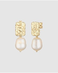 Elli Jewelry - Earrings Trend Organic Barock Freshwater Pearls Gold Plated 925 Sterling Silver