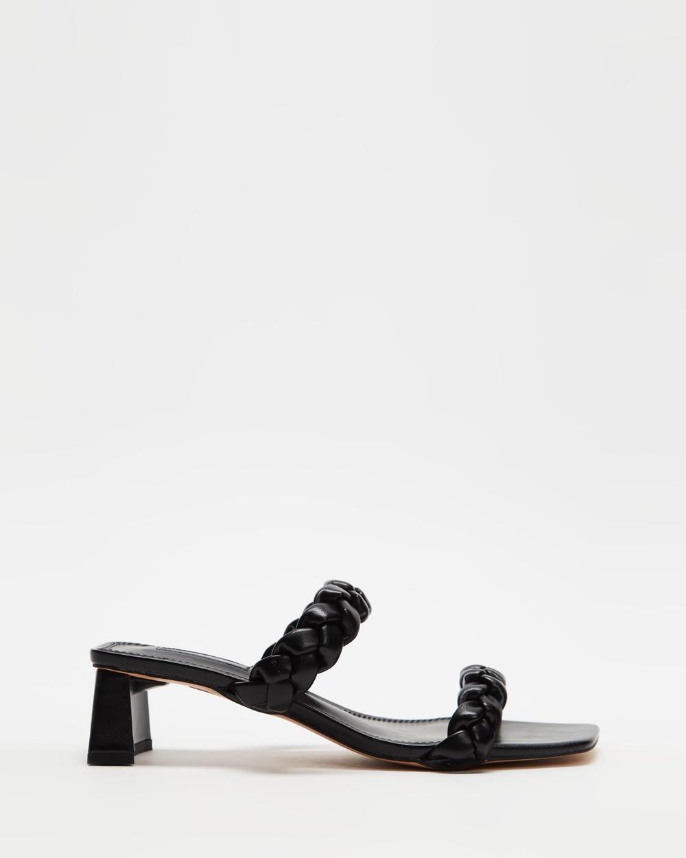 TOPSHOP Dream Plait Mules Sandals Black