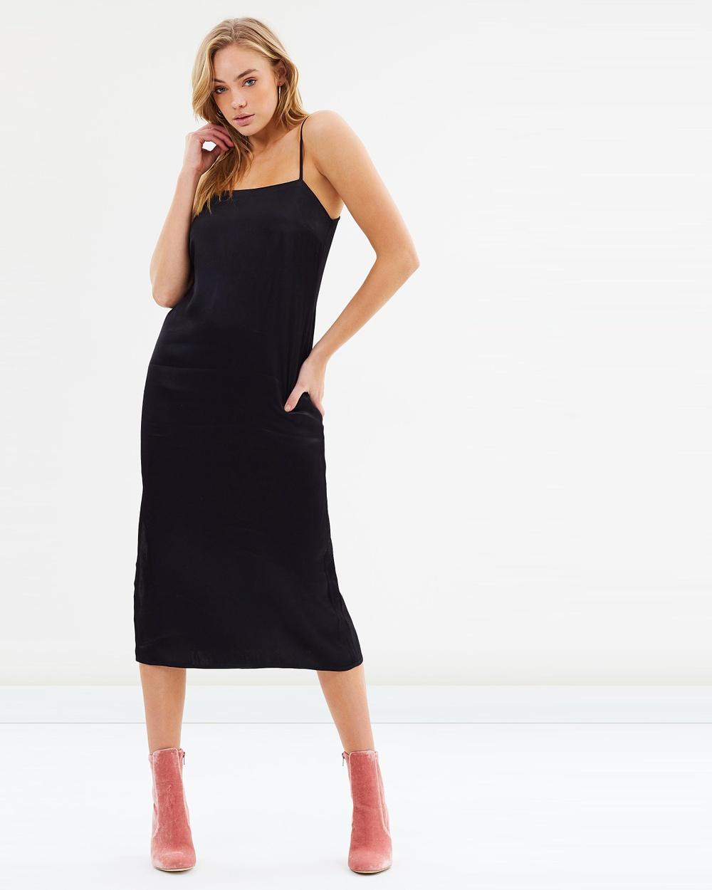 Bardot Vania Strap Dress Dresses Black Vania Strap Dress