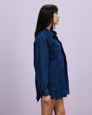 Missguided - Indigo Oversized Shirt - Denim jacket (Deep Blue) Indigo Oversized Shirt