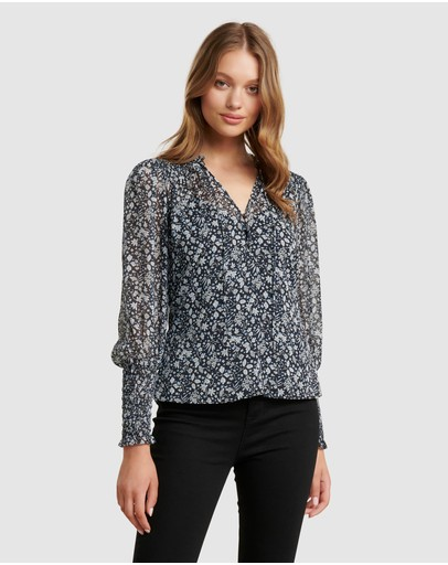 Forever New - Fiona Shirred Sleeve Blouse