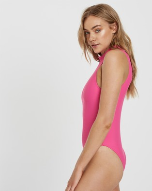 Charlie Holiday Bardot Full Piece - One-Piece / Swimsuit (Pink)