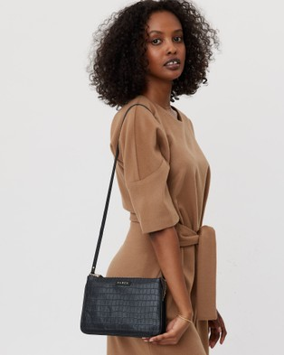 Saben Tilly's Big Sis Leather Cross body Bag Handbags Black  Cross-body
