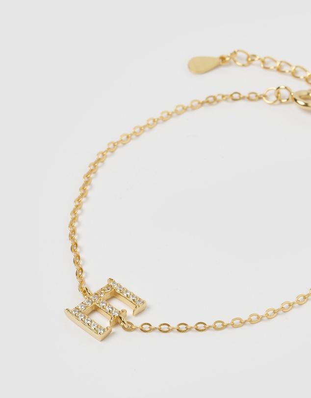 Women Crystal Letter E Bracelet
