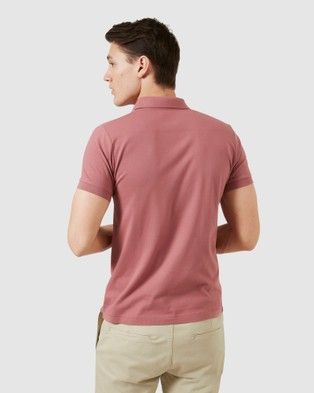 French Connection Classic Polo - T-Shirts & Singlets (BERRY)