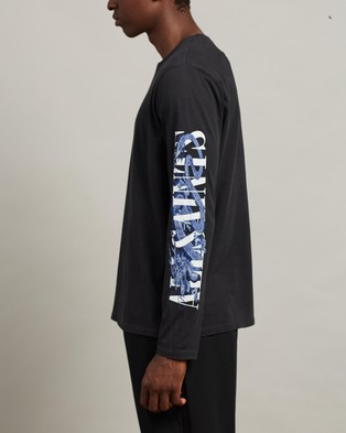 AllSaints Draco Long Sleeve Crew Tee - T-Shirts & Singlets (Vintage Black)