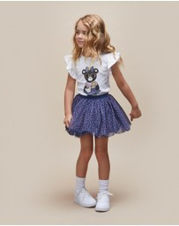 Huxbaby - Bow Hux Girl Frill Top - Babies-Kids