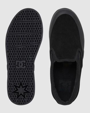 DC Shoes Youth Infinite Slip On Shoe - Sneakers (Black/Black)