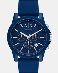 Armani Exchange - Blue Chronograph Watch