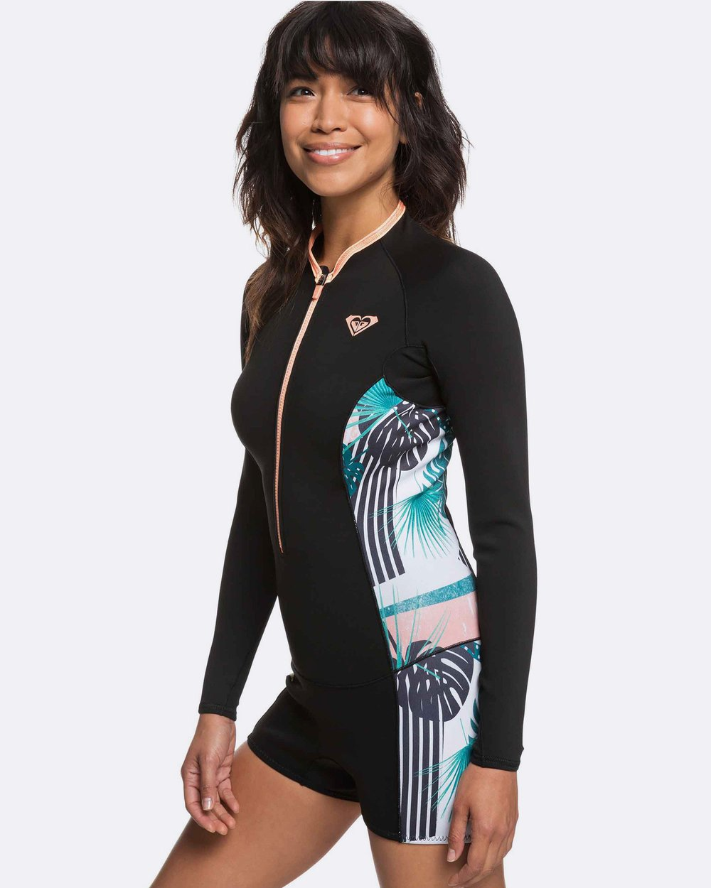 279d823ed5 Womens 1.5mm POP Surf Long Sleeved Front Zip Springsuit by Roxy Online