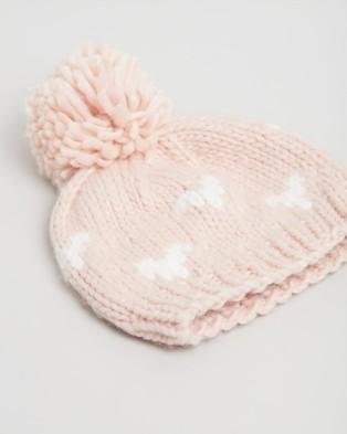 Morgan & Taylor Gabrielle Mini Beanie   Kids - Headwear (Pink)