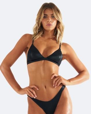 Buy L'urv - Untamed Bikini Top Black -  shop L'urv swimwear online