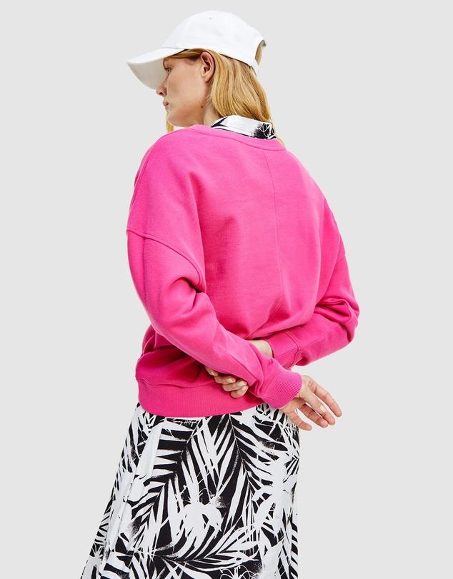 Women Oversized Tonal Open Sweatshirt