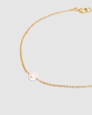 Molten Store The Gold Pearl Raindrop Bracelet - Jewellery (Gold)