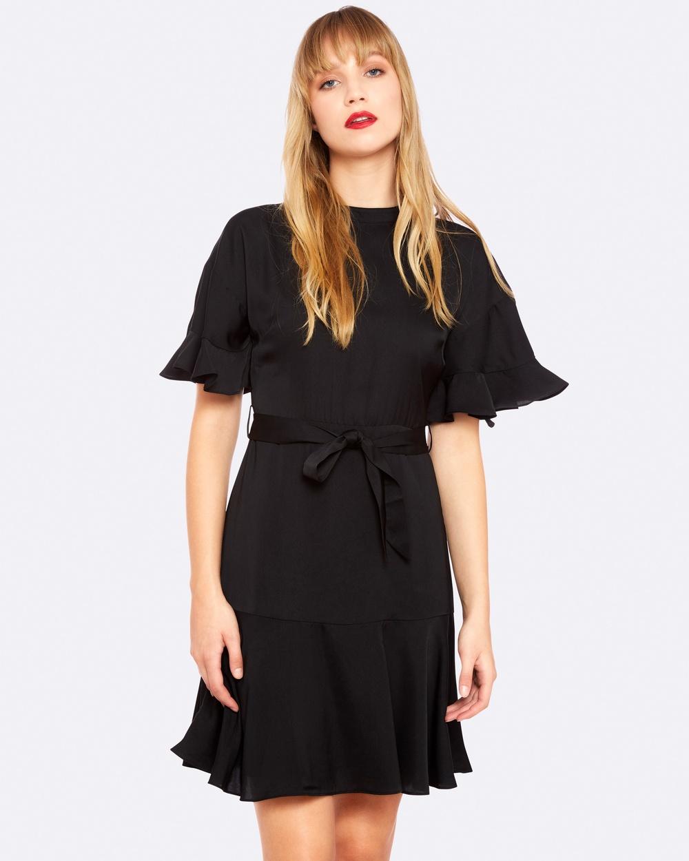 Oxford JORDAN FRILLED DRESS Dresses Black JORDAN FRILLED DRESS