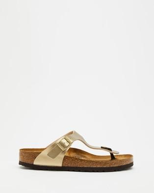 Birkenstock Gizeh Birko Flor Regular   Women's - Sandals (Gold)