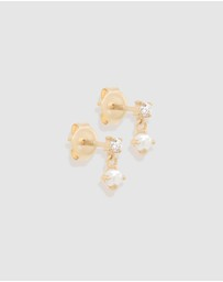 By Charlotte - 14k Gold Tranquility Earrings - Pair