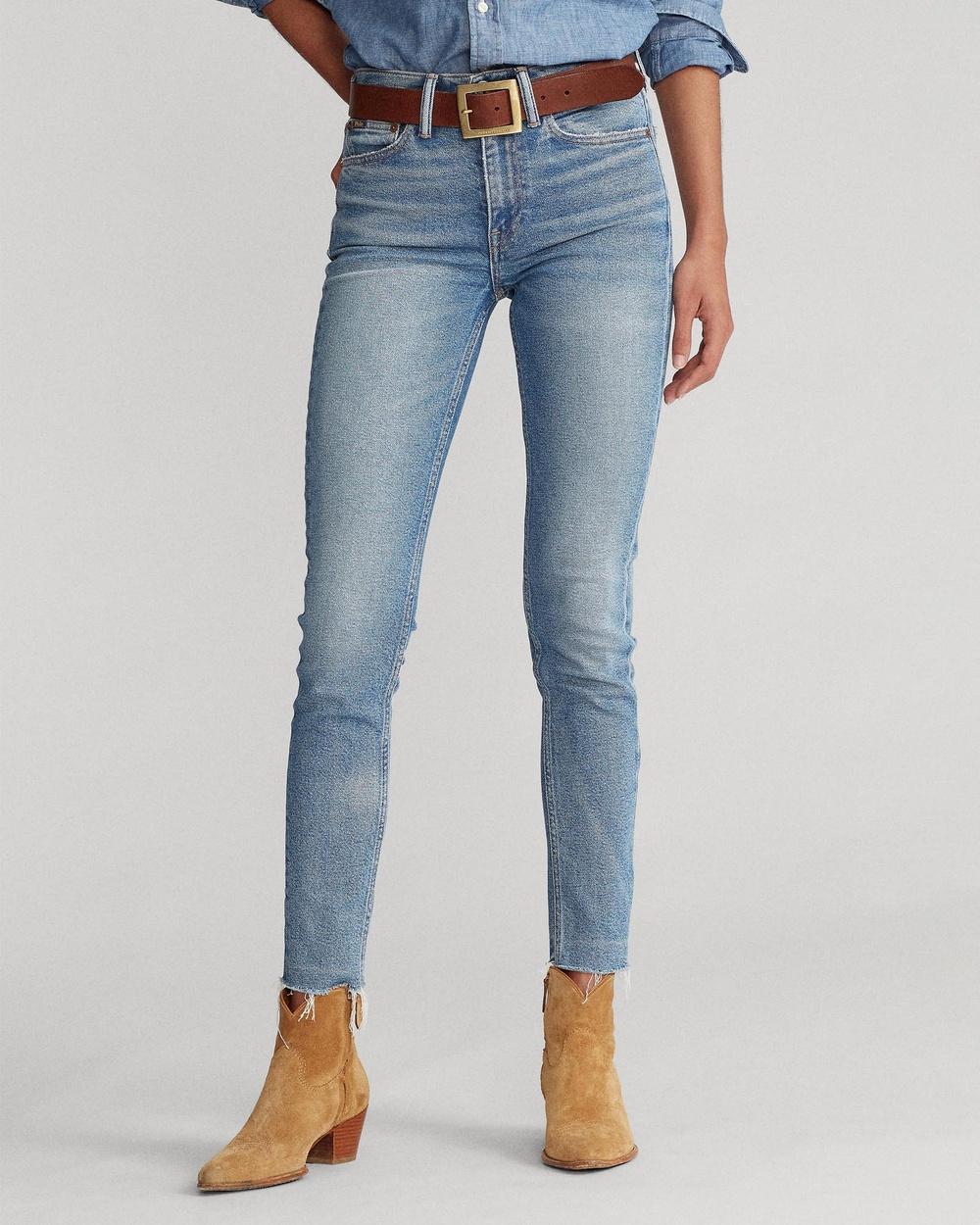 Polo Ralph Lauren Tompkins High Rise Skinny Jeans High-Waisted Light Indigo High-Rise Australia