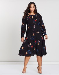 Cooper St - CS CURVY Gogo Long Sleeve Midi Dress