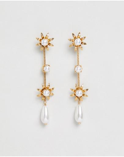 Nikki Witt Florentine Earrings Gold