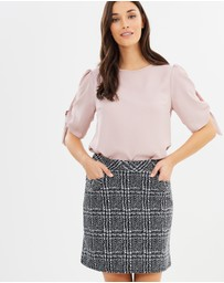 Dorothy Perkins - Mono Check Skirt
