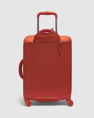 Lipault Paris Plume Avenue Spinner 55cm Expandable Suitcase - Travel and Luggage (Orange)