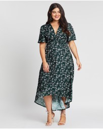 Missguided Curve - High-Low Wrap Dress