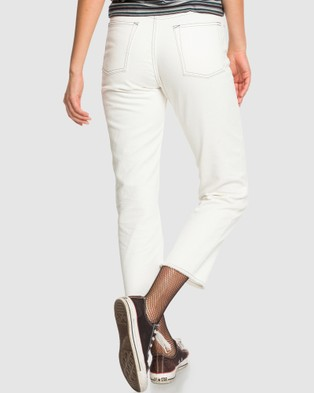 Quiksilver Quiksilver Womens Originals Loose Fit Jean - Jeans (LILY WHITE)