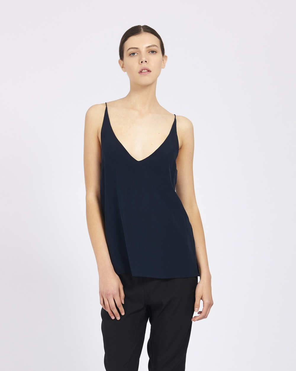 GINIA RTW Narcisse Deep V Cami Tops French Navy Narcisse Deep V Cami