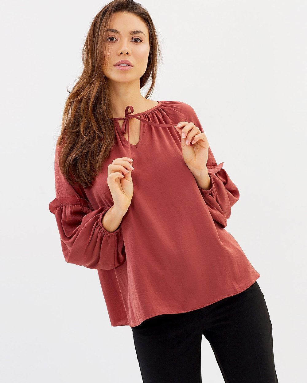 Privilege Primrose Peasant Top Tops Rose Bud Primrose Peasant Top