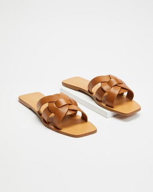 Atmos&Here Soleil Leather Sandals - Sandals (Tan Leather)