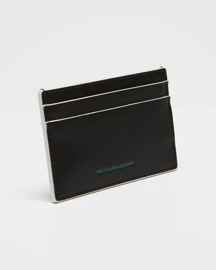 Tommy Jeans Recycled Leather Cardholder - Wallets (Black)