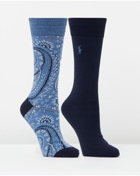 Polo Ralph Lauren - 2-Pack Bandana Socks