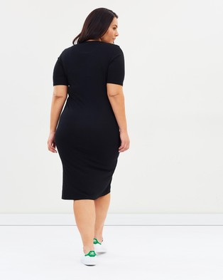 Atmos&Here Curvy Essential Midi Dress - Bodycon Dresses (Black)