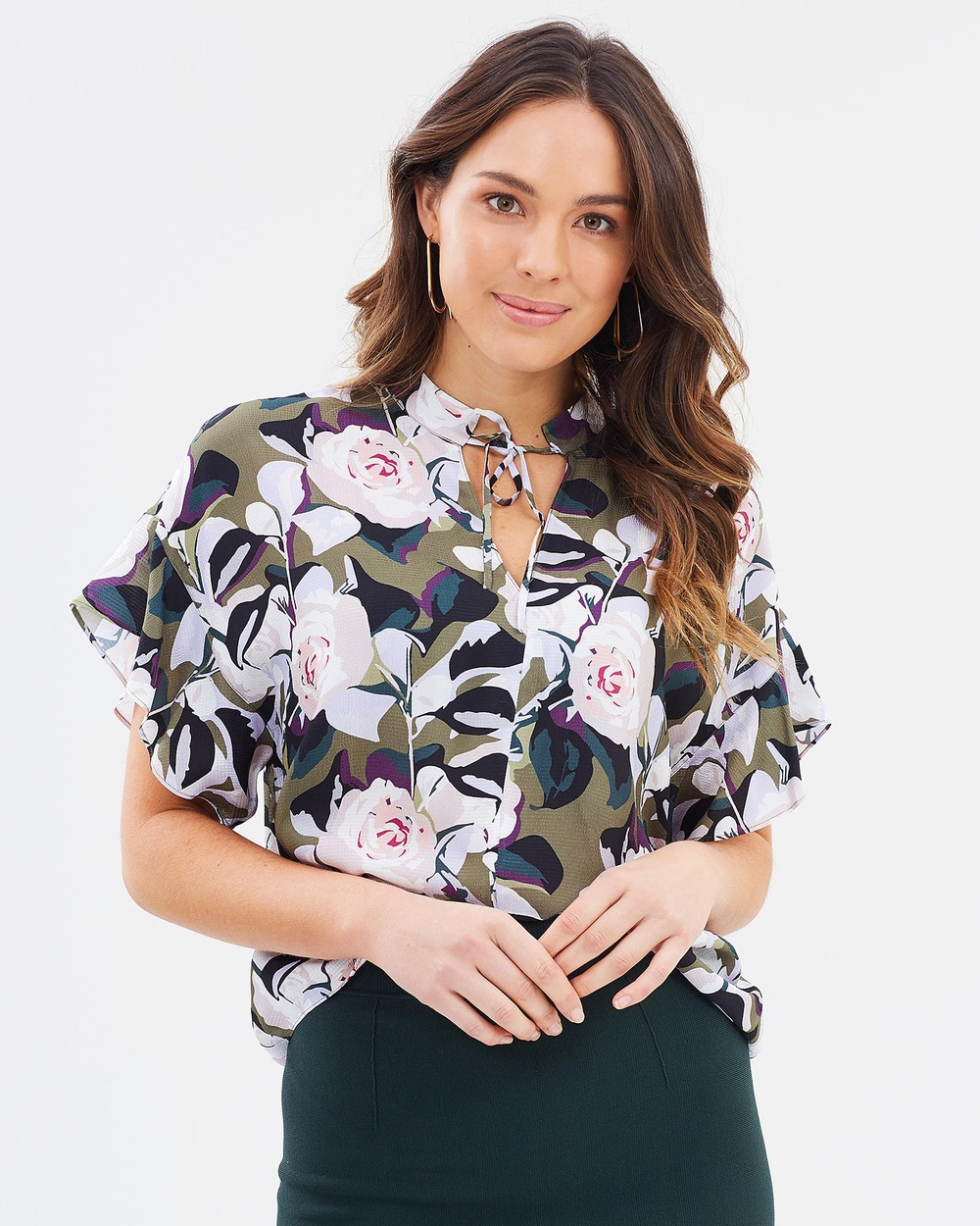 SABA Sophia Floral Top Tops Multi Sophia Floral Top