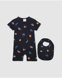 Milky - Jungle Romper & Bib Set - Babies