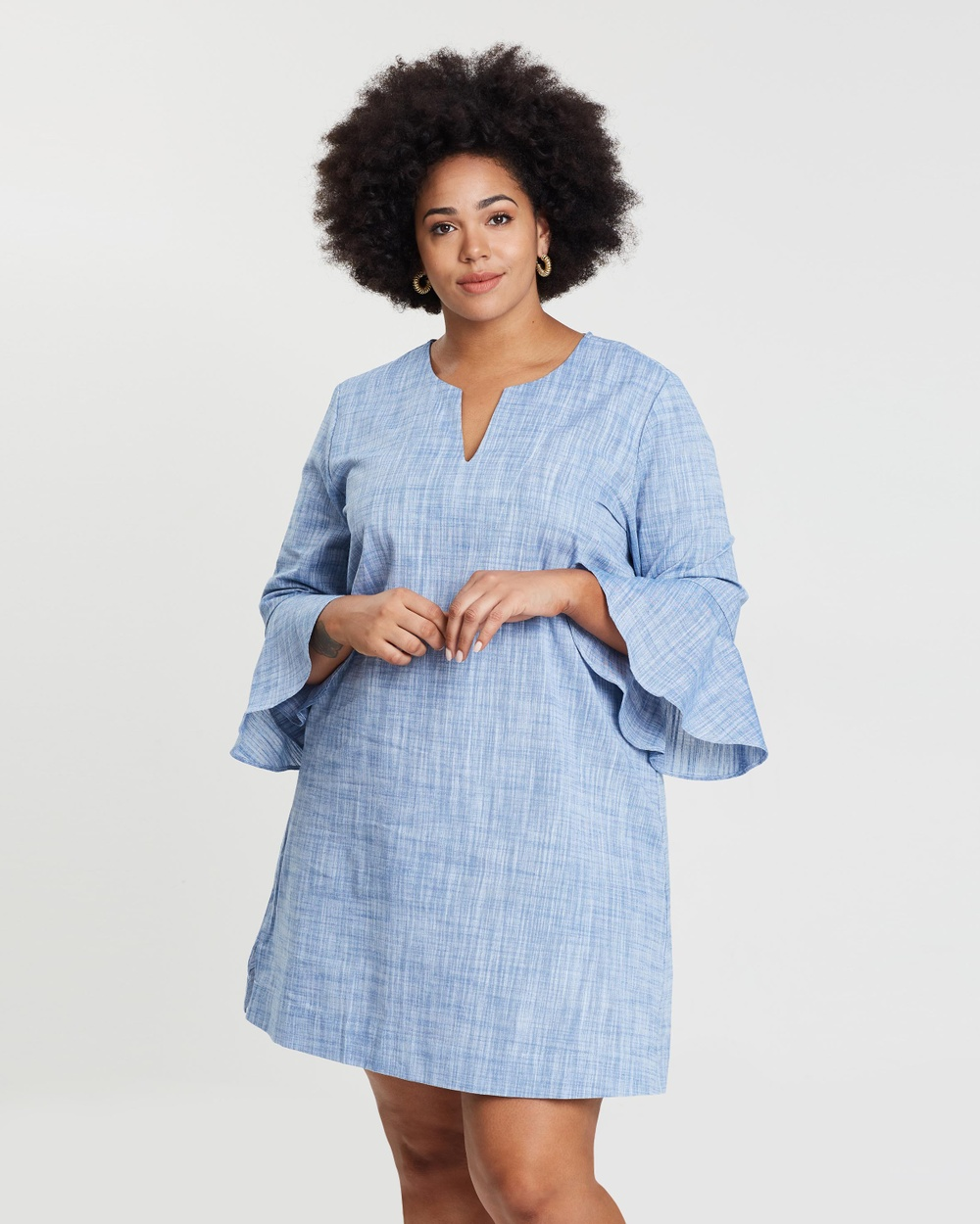 Wite Plus Blue Daintree Dress