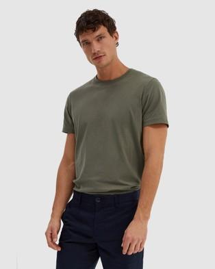 SABA - Daniel Crew Neck Tee - T-Shirts & Singlets (Pale Green) Daniel Crew Neck Tee