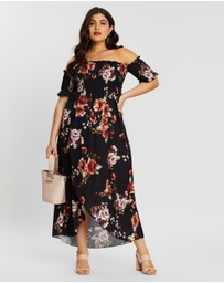 Boohoo - Plus Floral Off-Shoulder Maxi Dress