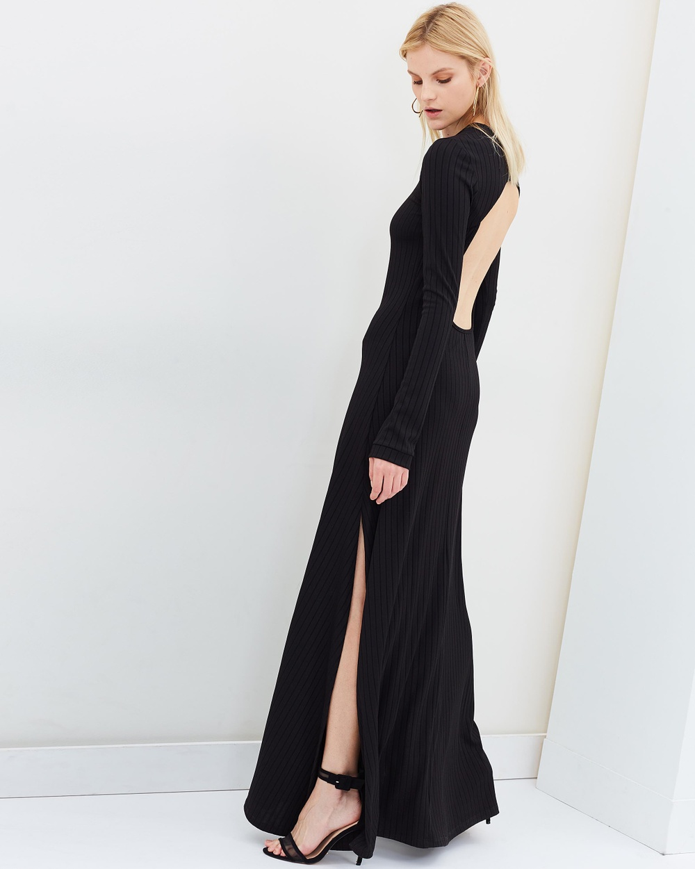 Michael Lo Sordo Backless Jersey Maxi Dress Dresses Black Backless Jersey Maxi Dress